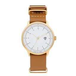 [14229AA] Harold Gold Gold/ White/Brown
