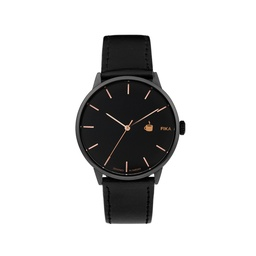 [14230II] Khorshid Fika Black / Black Vegan Leather Strap