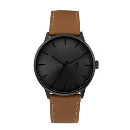 [14230JJ] Khorshid Funk Metal Gun Metal/Funky Brown Vegan Leather Strap