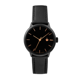 [14231JJ] Khorshid Mini Fika Black / Black Vegan Leather Strap