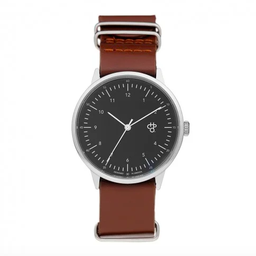 [14224BB] HAROLD SILVER BLACK BROWN